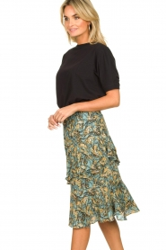 Aaiko | Skirt with print Arida | blue   | Picture 5