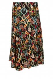 Aaiko |  Cheerful printed skirt Verine | black  | Picture 1