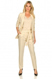 Aaiko |  Pinstripe blazer Adeline | natural  | Picture 3