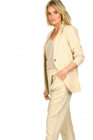 Aaiko |  Pinstripe blazer Adeline | natural  | Picture 6