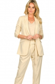 Aaiko |  Pinstripe blazer Adeline | natural  | Picture 2