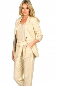 Aaiko |  Pinstripe blazer Adeline | natural  | Picture 5