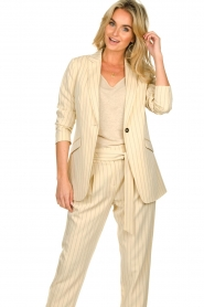 Aaiko |  Pinstripe blazer Adeline | natural  | Picture 4