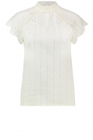Aaiko |  Lace top Shira | white  | Picture 1