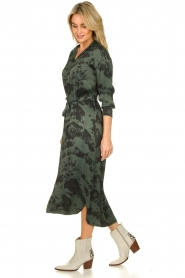 Aaiko |  Button-down dress with drawstring Palma | green  | Picture 4