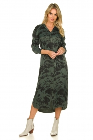 Aaiko |  Button-down dress with drawstring Palma | green  | Picture 3