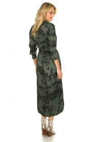 Aaiko |  Button-down dress with drawstring Palma | green  | Picture 5