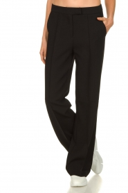Aaiko |  Wide leg trousers Chantalle | black  | Picture 2