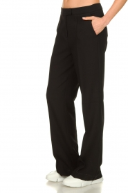 Aaiko |  Wide leg trousers Chantalle | black  | Picture 4