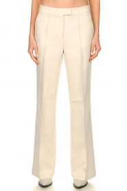 Aaiko |  Wide leg trousers Chantalle | naturel  | Picture 2