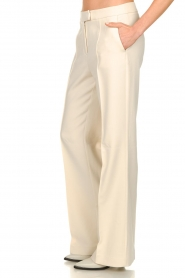 Aaiko |  Wide leg trousers Chantalle | naturel  | Picture 4