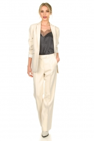 Aaiko |  Wide leg trousers Chantalle | naturel  | Picture 3