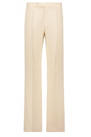 Aaiko |  Wide leg trousers Chantalle | naturel  | Picture 1