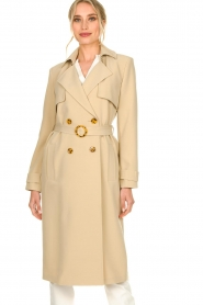 Aaiko |  Trench coat Tuana | beige  | Picture 4