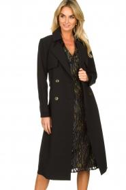 Aaiko |  Trench coat Tuana | black  | Picture 5