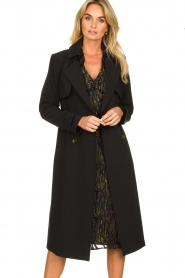 Aaiko |  Trench coat Tuana | black  | Picture 4