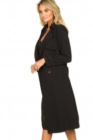 Aaiko |  Trench coat Tuana | black  | Picture 6