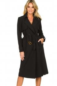 Aaiko |  Trench coat Tuana | black  | Picture 2
