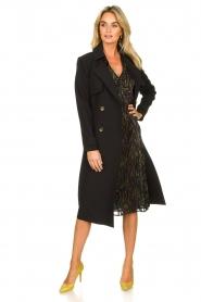 Aaiko |  Trench coat Tuana | black  | Picture 3