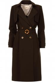 Aaiko |  Trench coat Tuana | black  | Picture 1