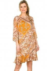 Aaiko    Paisley print dress Safiya   orange    Picture 2