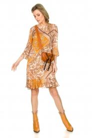 Aaiko |  Paisley print dress Safiya | orange  | Picture 3