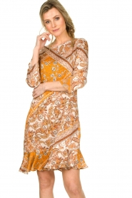 Aaiko |  Paisley print dress Safiya | orange  | Picture 4