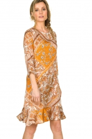 Aaiko |  Paisley print dress Safiya | orange  | Picture 5