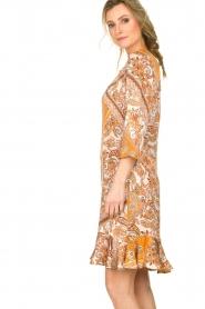 Aaiko |  Paisley print dress Safiya | orange  | Picture 6