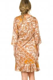 Aaiko |  Paisley print dress Safiya | orange  | Picture 7