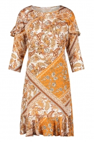 Aaiko |  Paisley print dress Safiya | orange  | Picture 1