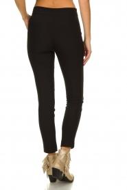 Aaiko |  Pantalon with seams Tamar | black  | Picture 5