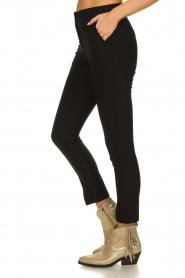 Aaiko |  Pantalon with seams Tamar | black  | Picture 4