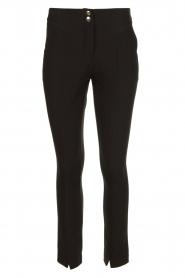 Aaiko |  Pantalon with seams Tamar | black  | Picture 1