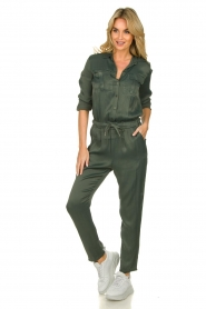Aaiko |  Jumpsuit with drawstring Havane | green   | Picture 2