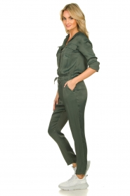 Aaiko |  Jumpsuit with drawstring Havane | green   | Picture 3