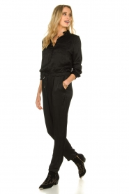 Aaiko |  Jumpsuit with drawstring Havane Vis | black  | Picture 3