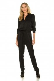 Aaiko |  Jumpsuit with drawstring Havane Vis | black  | Picture 2
