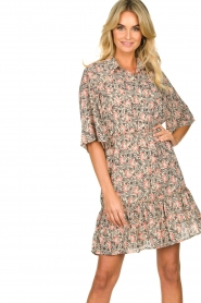 Aaiko |  Floral dress Saria | pink  | Picture 5