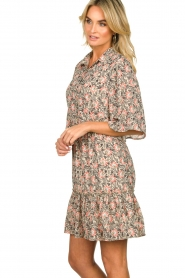 Aaiko |  Floral dress Saria | pink  | Picture 4