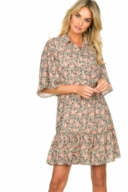 Aaiko |  Floral dress Saria | pink  | Picture 2