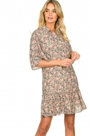 Aaiko |  Floral dress Saria | pink  | Picture 6