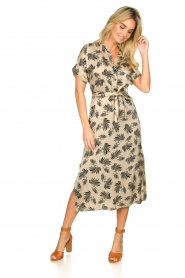 Aaiko |  Printed midi dress Aletta | grey  | Picture 3