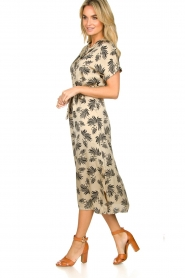 Aaiko |  Printed midi dress Aletta | grey  | Picture 4