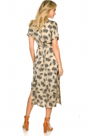 Aaiko |  Printed midi dress Aletta | grey  | Picture 5