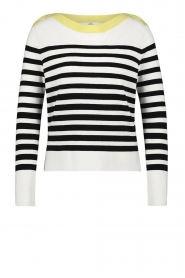Aaiko |  Striped sweater Beyza | white  | Picture 1