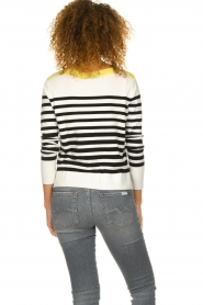 Aaiko |  Striped sweater Beyza | white  | Picture 6