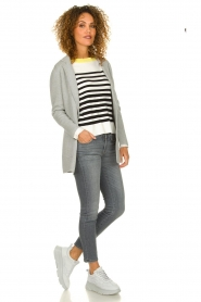 Aaiko |  Striped sweater Beyza | white  | Picture 3