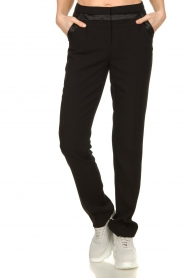 Aaiko |  Straight trousers Vanory | black  | Picture 2