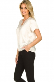 Aaiko |  Top with lace Veerly | white  | Picture 5